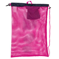 Zwemtas in netstof 500 30 l roze blauw