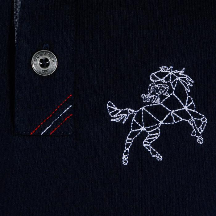 Polo manches longues équitation garçon HORSE - 927877