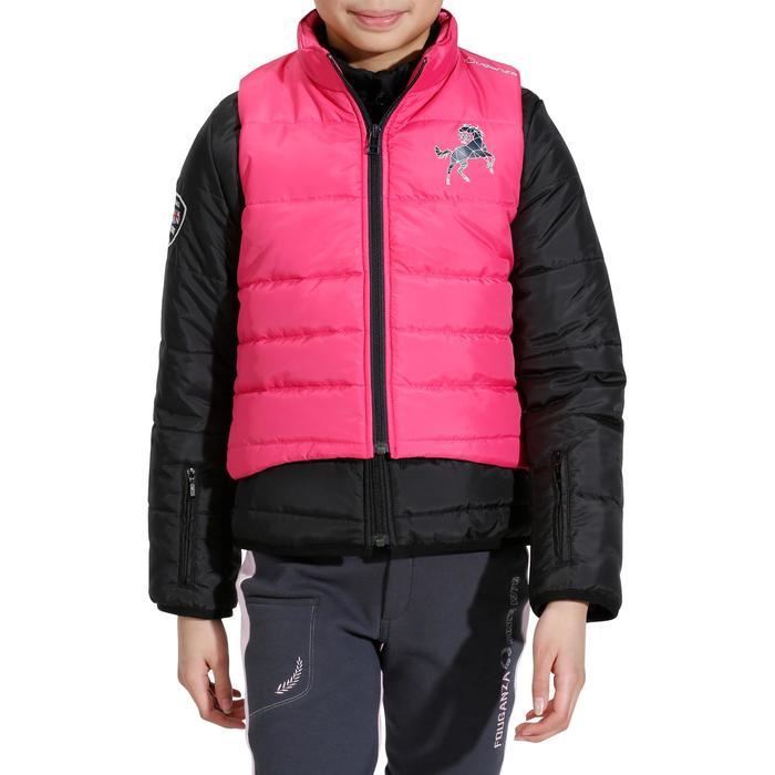 Kinderjas Safy ruitersport zwart