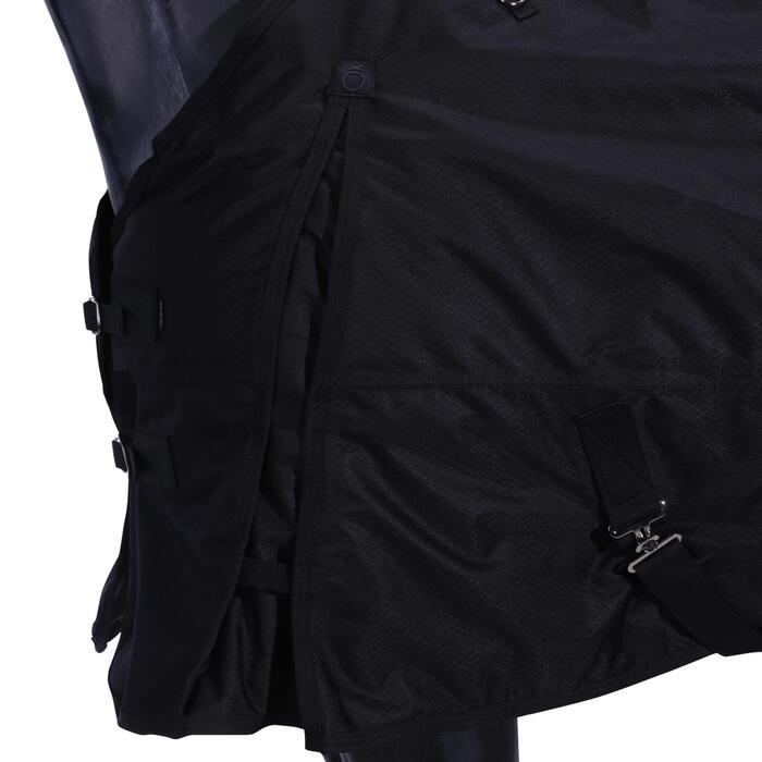 Couverture imperméable équitation poney cheval ALLWEATHER 200 600D noir - 928102