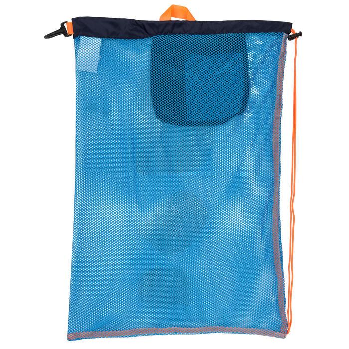 Zwemtas in netstof 500 30 l blauw oranje