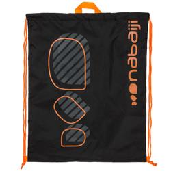 Drawstring swim bag - logo black orange