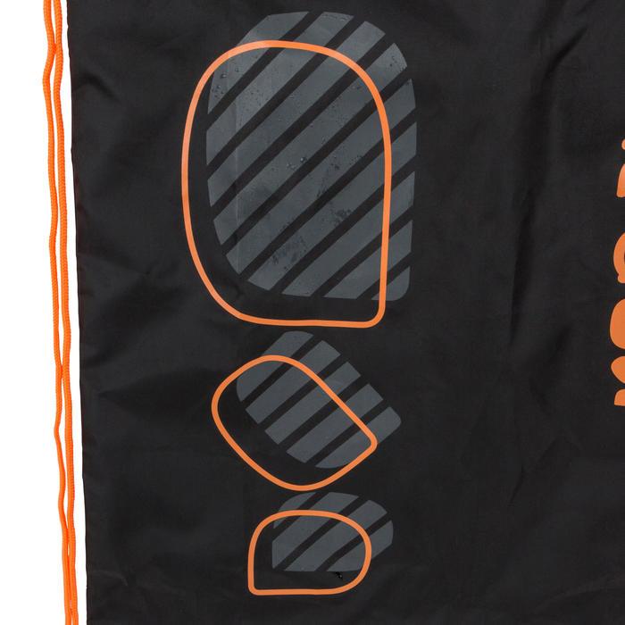束口袋 - 黑色橘色Logo