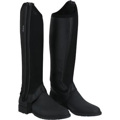 حذاء هاف تشابس شبكي للأطفال 100 لركوب الخيل – لون أسود