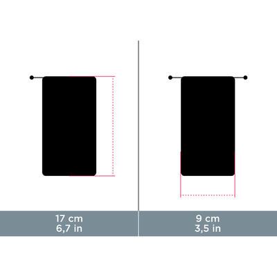 Funda De Tela Para Gafas De Sol Montaña MH ACC 120 Limpiadora Microfibra Negro