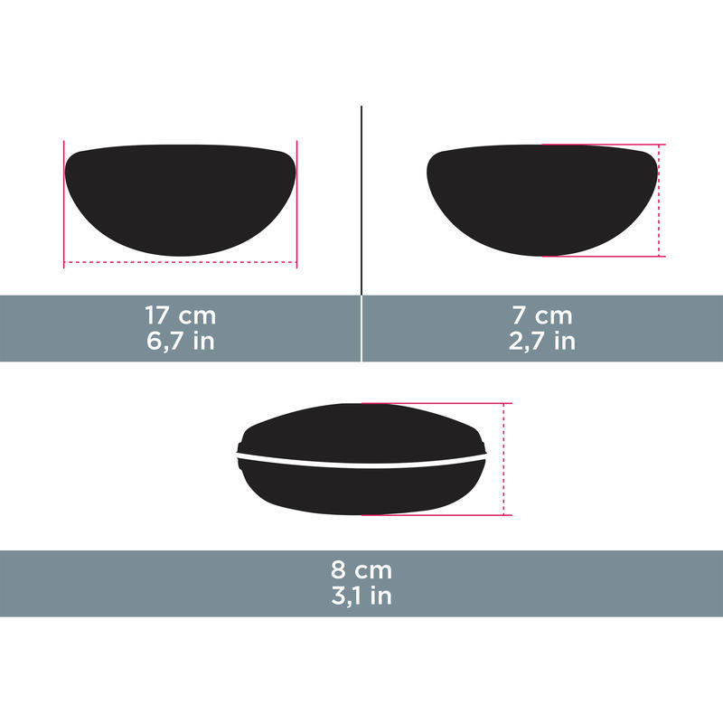 กล่องแข็งสำหรับใส่แว่นตารุ่น Case 560 (สีดำ)