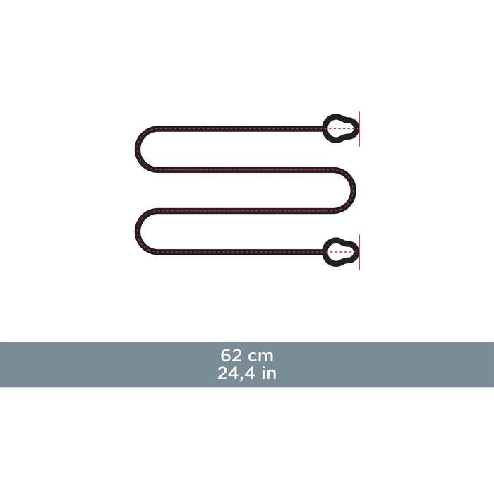 Cordon de maintien à boucles STRAP UNI 100 noir - 931134