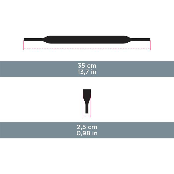 Brilband in neopreen MH ACC 160 zwart