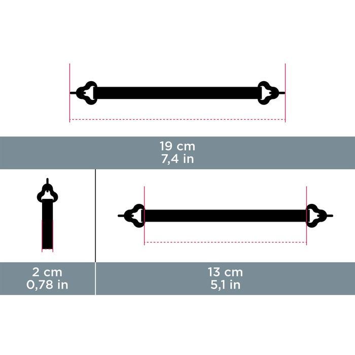 Bandeau de maintien néoprène à crochet MH ACC 560 noir