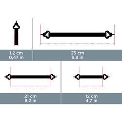 Bandeau de maintien élastique à crochet MH ACC 500 noir