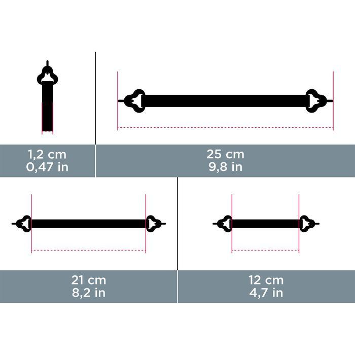 Bandeau de maintien élastique à crochet STRAP HOOK 500 noir