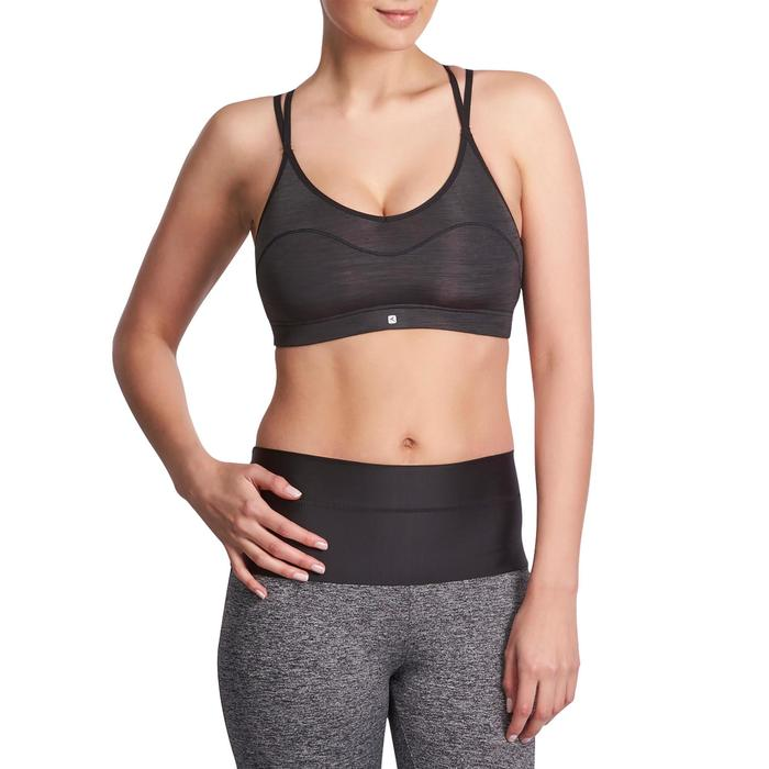 Brassière Confort + fitness cardio femme noire 100 Domyos