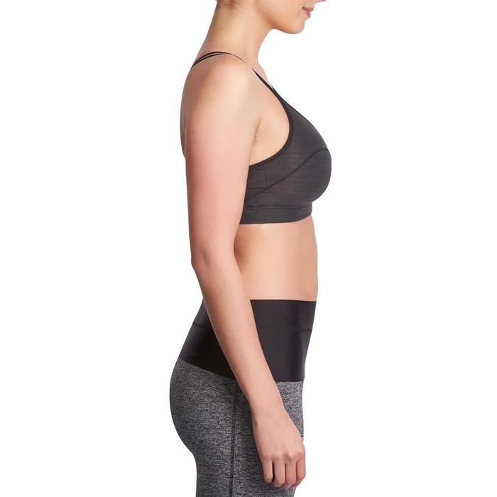 Brassière Confort + fitness cardio femme grise 100 Domyos - 931518