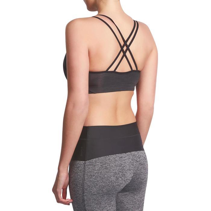 Behatopje Confort+ fitness cardio dames 100 zwart