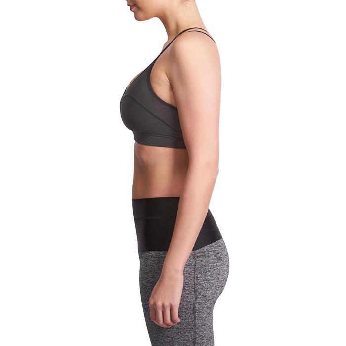 Brassière Confort + fitness cardio femme grise 100 Domyos - 931521