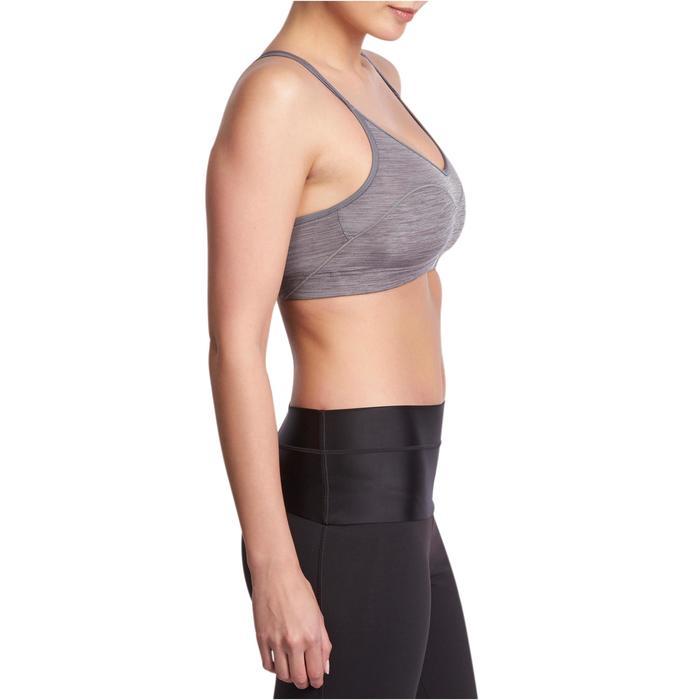 Sportbeha 100 Confort+ voor cardiofitness grijs Domyos