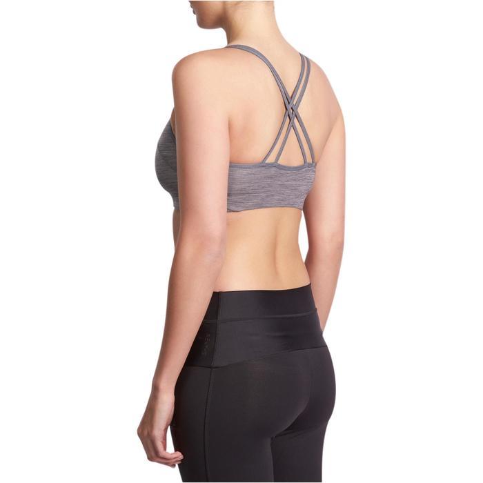 Brassière Confort + fitness cardio femme grise 100 Domyos - 931533
