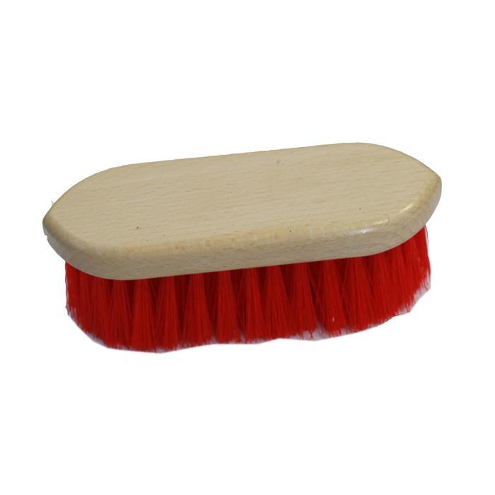Kit de limpieza equitación 9 piezas adulto rojo