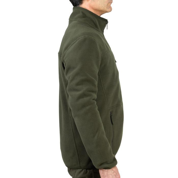 Jagd-Fleecejacke wendbar 500 Signalfarbe grün