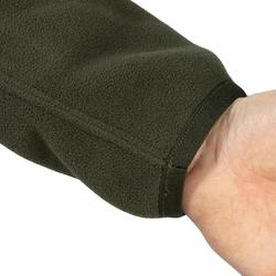Keerbare fleece vest voor de jacht 500 fluogroen