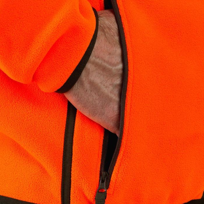 Polaire chasse réversible 500 fluo vert - 931726