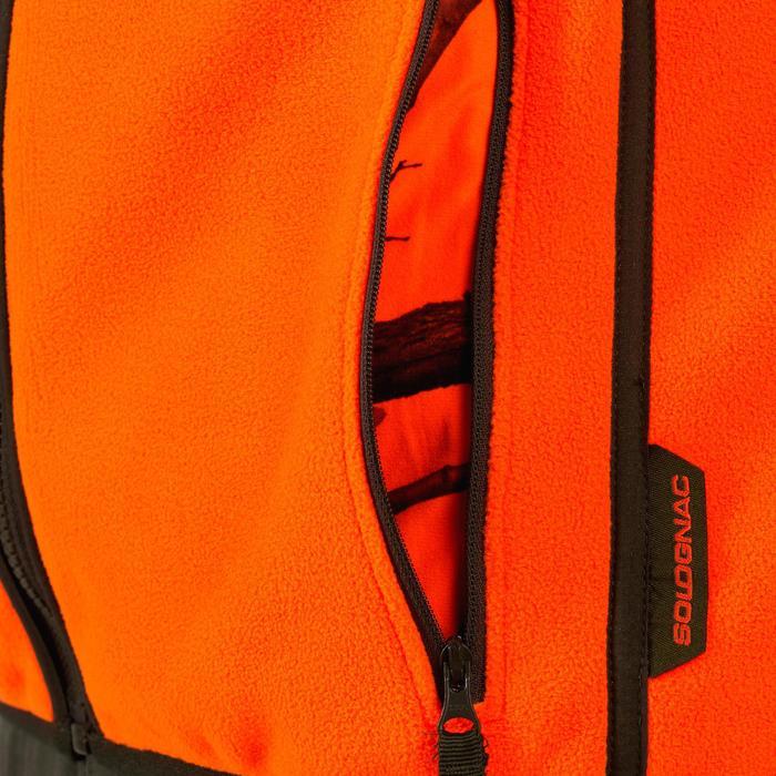 Keerbare jachtfleece 500 fluogroen