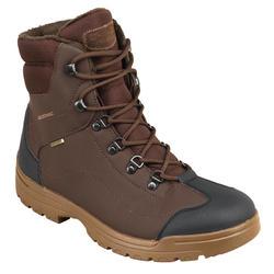 Chaussure chasse chaude imperméable land 100 warm marron