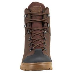 Chaussures chasse chaudes imperméables land 100 warm marron