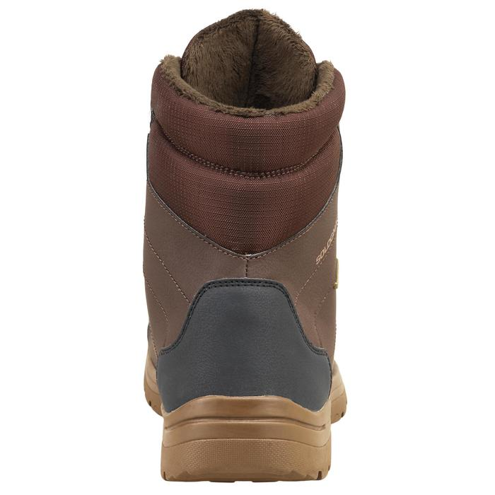 Botas de caza impermeables land 100 warm marrones