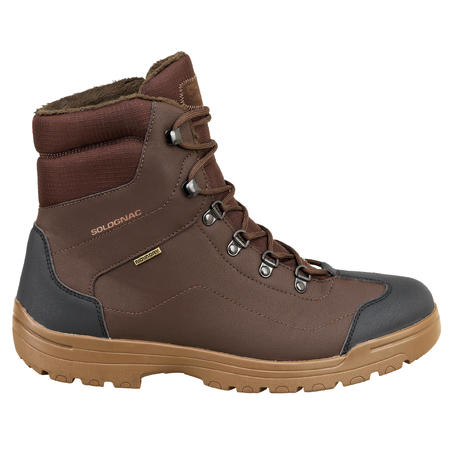 Land 100 Warm Waterproof Hunting Boots Brown