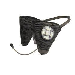 Bluetooth systeem voor rijhelm ruitersport zwart