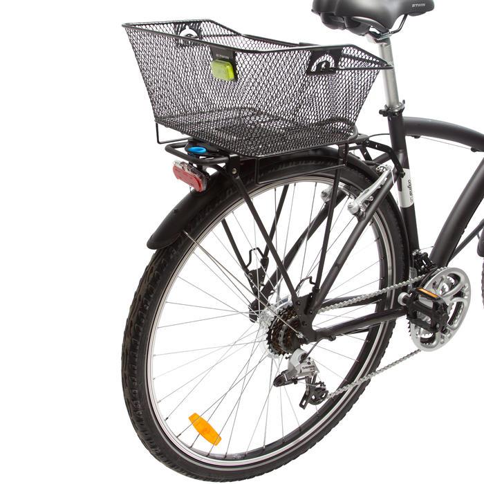 Fietsmand 500 achteraan 13 liter bevestiging op Onesecondclip-bagagedrager