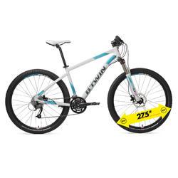 """Mountainbike 27,5"""" Rockrider 540 Alu Damen weiß/türkis"""