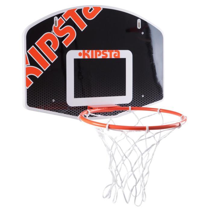 Basketbalbord kinderen muurbevestiging B100 zwart Tot 8 jaar.