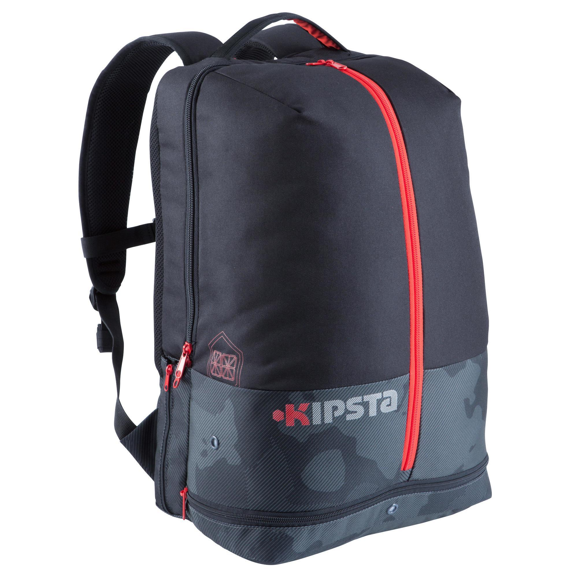 sac dos de sports collectifs intensif 35 litres noir rouge kipsta by decathlon. Black Bedroom Furniture Sets. Home Design Ideas