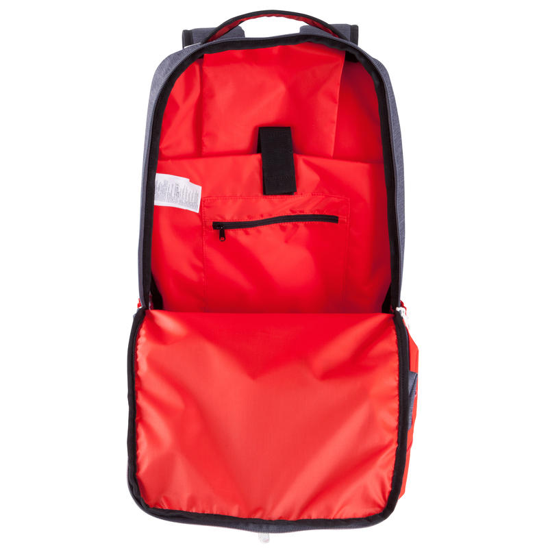 sac dos de sports collectifs intensif 35 litres gris rouge decathlon martinique. Black Bedroom Furniture Sets. Home Design Ideas