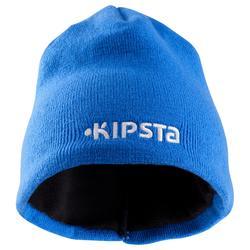 Gorro niños Keepwarm interior de fibra polar azul y gris