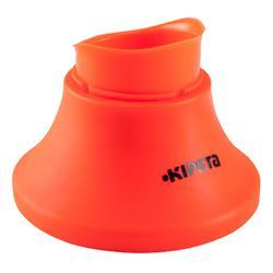 Rugby kicking tee in hoogte verstelbaar oranje