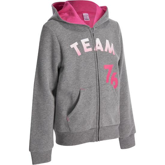 Warme gym hoodie met rits voor meisjes - 935396