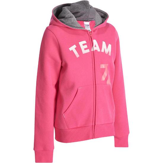 Warme gym hoodie met rits voor meisjes - 935410