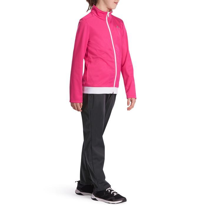 Survêtement chaud zippé Gym Energy fille rose Gym'y