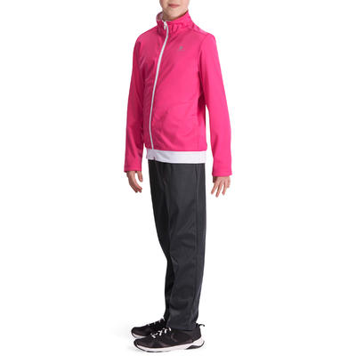 Survêtement chaud zippé Gym Energy fille rose Gym'y