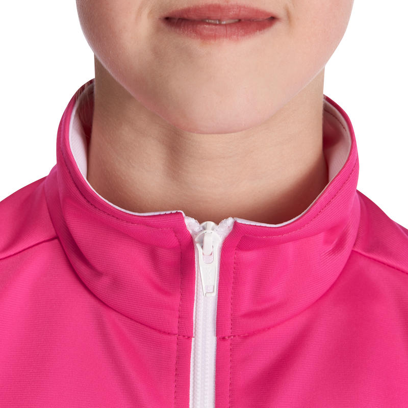 Gym'Y Energy Girls' Warm Zip-Up Gym Tracksuit - Pink