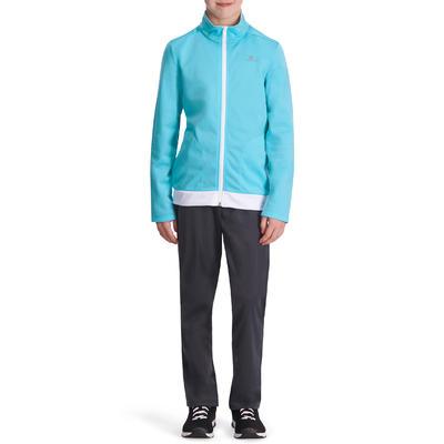 Survêtement chaud zippé Gym Energy fille bleu Gym'y