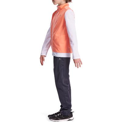 Jogging zippé fitness fille GYM'Y orange