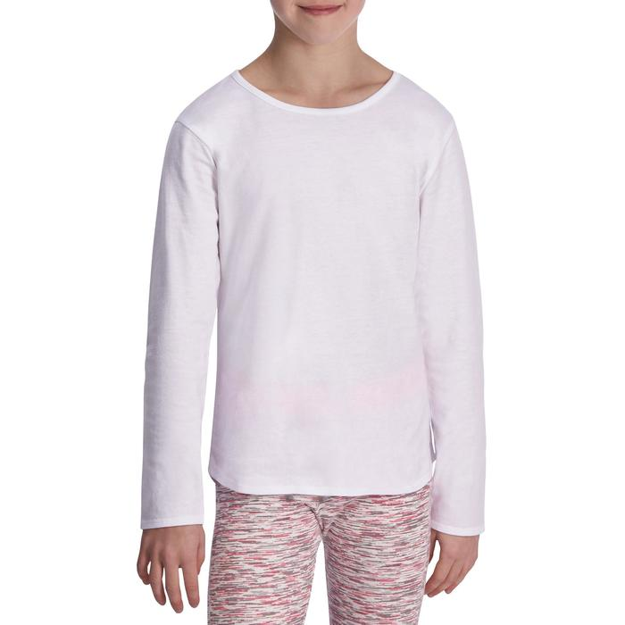 Meisjesshirt met lange mouwen voor gym - 935524