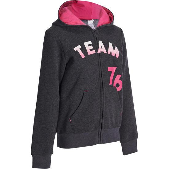 Warme gym hoodie met rits voor meisjes - 935556