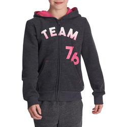 Warme gym hoodie met rits voor meisjes - 935564