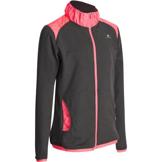 Warm gym vest met rits Energy voor meisjes - 935696