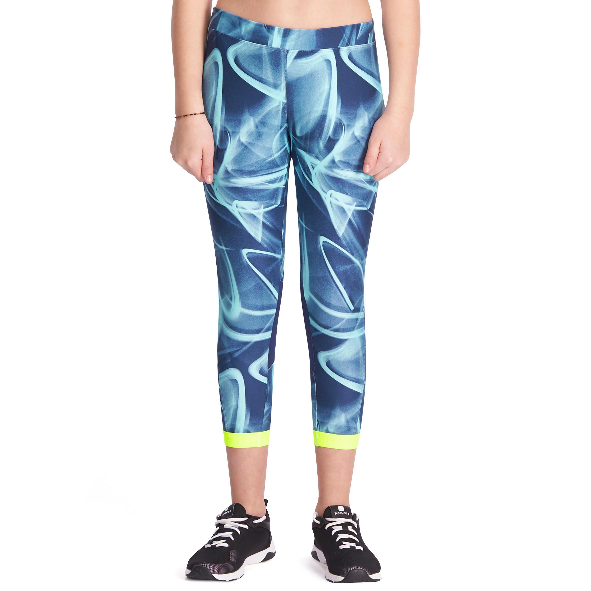 Legging 7/8 fitness fille ENERGY+ bleu marine